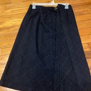 Gap wool wrap skirt
